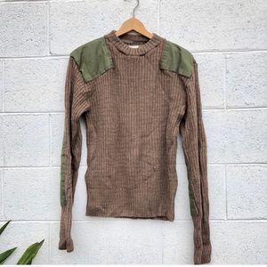 Vintage Military Wool Sweater
